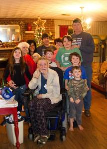 Here is part of the family. This one was taken last Christmas. Just to give an idea of how many people we're talking about.